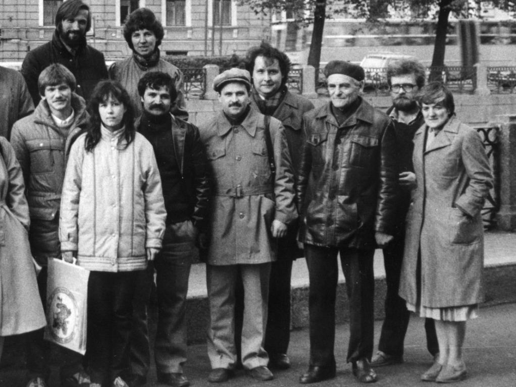 С участниками Первого Всесоюзного съезда КСОшников. Ленинград. 1987 год